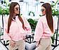 """Женская демисезонная стильная куртка 2028 """"Кожа Летучая Мышь"""" в расцветках, фото 2"""