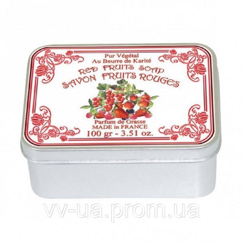 Натуральное мыло Le Blanc Красные ягоды, 100 г, в жестяной упаковке (М9757) 3760110100638