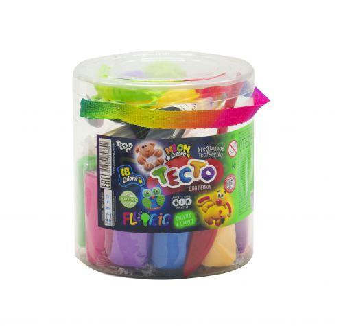 """Набор для лепки """"Fluoric"""", 18 цветов (укр) TMD-FL-18-01U"""