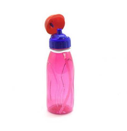 Бутылочка для воды с пипеткой, 500 мл (красная) 035