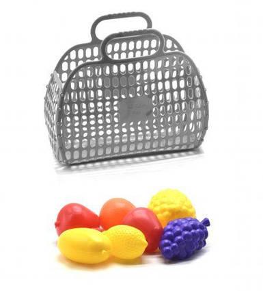 Корзинка с фруктами серый KW-04-463