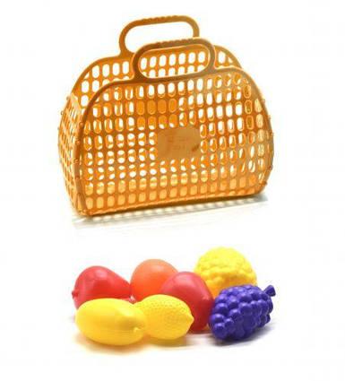 Корзинка с фруктами желтый KW-04-463