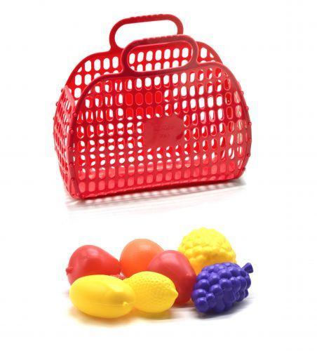 Корзинка с фруктами красный KW-04-463