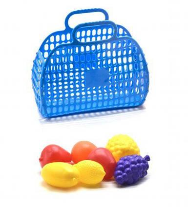 Корзинка с фруктами синий KW-04-463