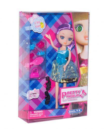 "Кукла ""Pretty Angelia (babyface)"" с аксессуарами (в голубом платье) 83047"
