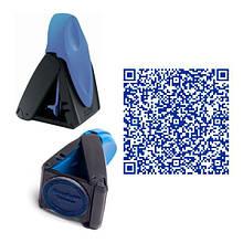 Печать QR code с карманной оснасткой Trodat 9440