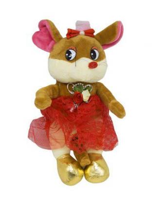 """Мягкая игрушка """"Мышка в юбке"""" (коричневая) H-42"""