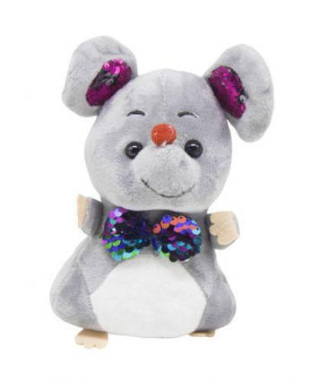 """Мягкая игрушка """"Мышка с галстуком"""" (серая) 026605"""
