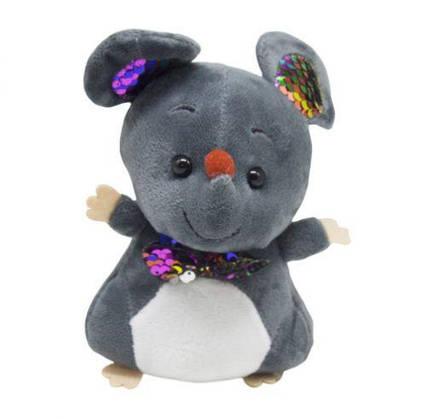 """Мягкая игрушка """"Мышка с галстуком"""" (тёмно-серая) 026605"""
