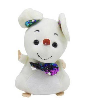 """Мягкая игрушка """"Мышка с галстуком"""" (белая) 026605"""
