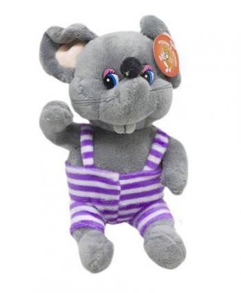 """Мягкая игрушка """"Мышка в полосатом"""" (серая) JX-17"""