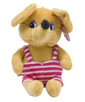 """Мягкая игрушка """"Мышка в полосатом"""" (коричневая) JX-17"""