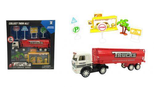 Набор с грузовиком (красный) М-00063