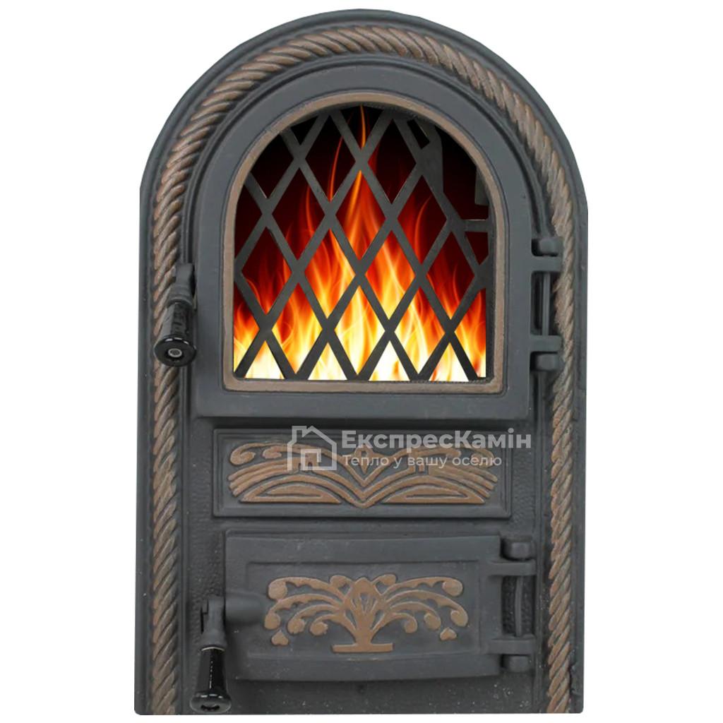 Дверцята пічні зі склом «PREMIERE» 340х540