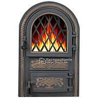Дверцы печные со стеклом «PREMIERE» 340х540