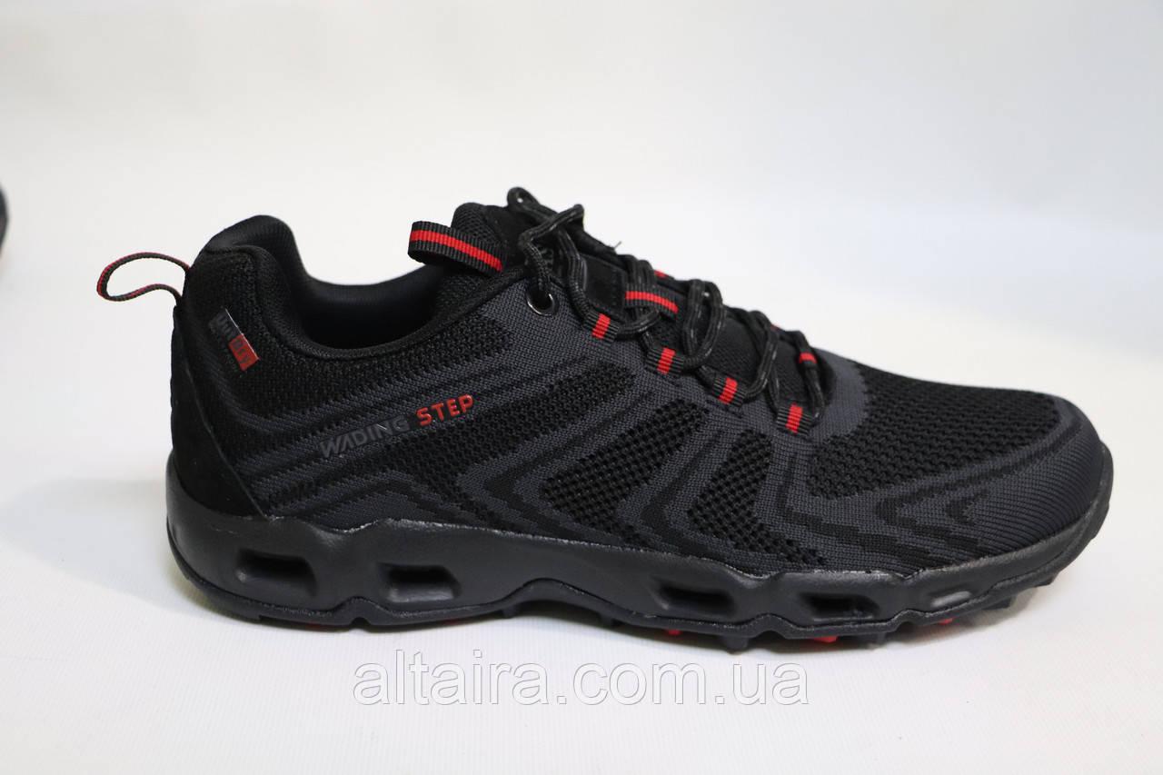 Чорні чоловічі літні кросівки сітка.BAAS.Чорні чоловічі літні кросівки сітка