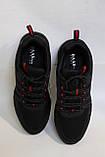 Черные мужские летние кроссовки сетка.BAAS.Чорні чоловічі літні кросівки сітка, фото 6
