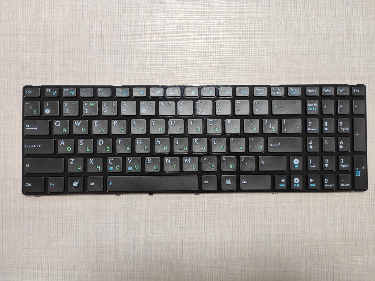 Клавиатура для ноутбука ASUS A52 K52 X54 N53 N61 N73 N90 P53 X54 X55 X61 rus, black K52 ver