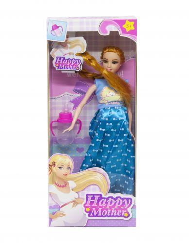 """Кукла """"Счастливая мама"""" (платье с бантиками синее) 2030-80"""