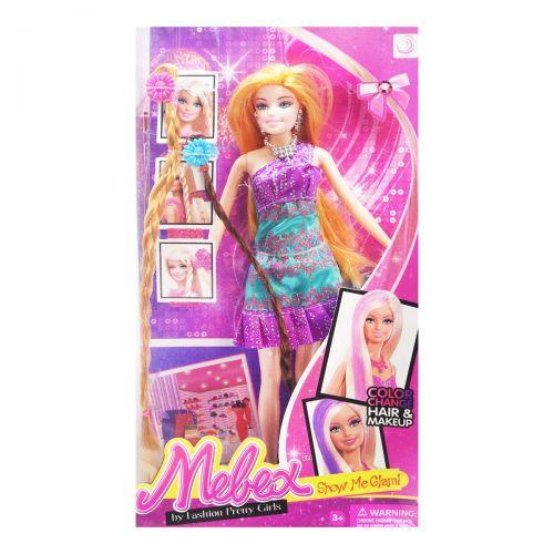 Кукла с цветными прядями (фиолетовый) HC268512