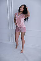Пижама, домашний костюм, костюм из плюшевого велюра, фото 1