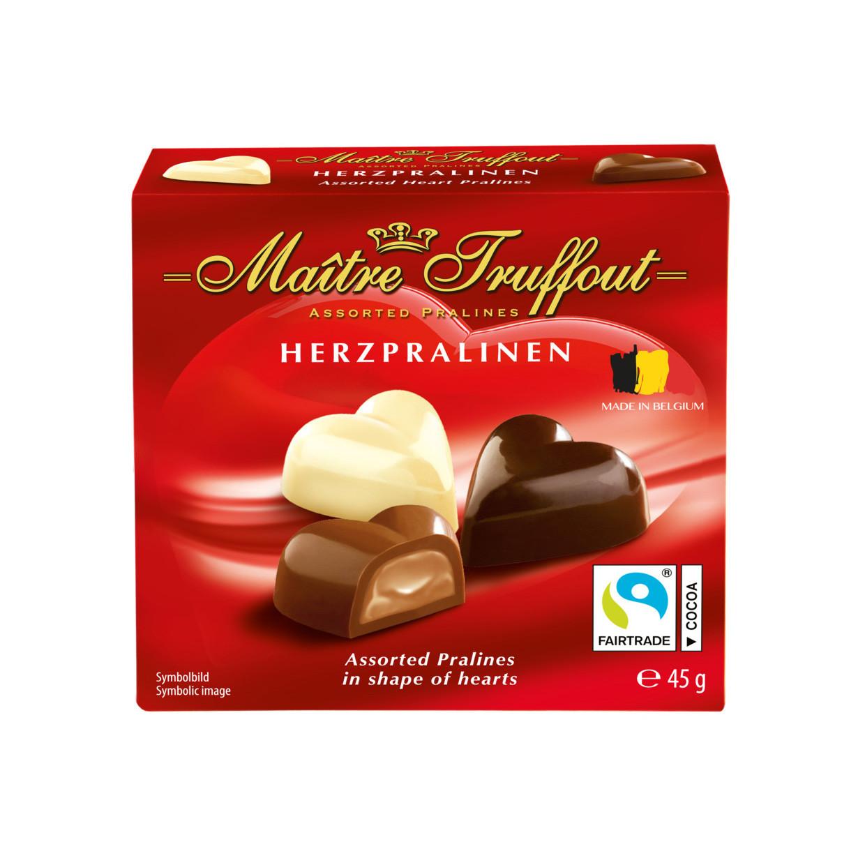 Цукерки Maitre Truffout Mini-Belgian heart pralines 45г, 20шт/ящ