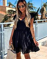 Платье легкое летнее темно-синее, белое 42-44,44-46,48-50,52-54
