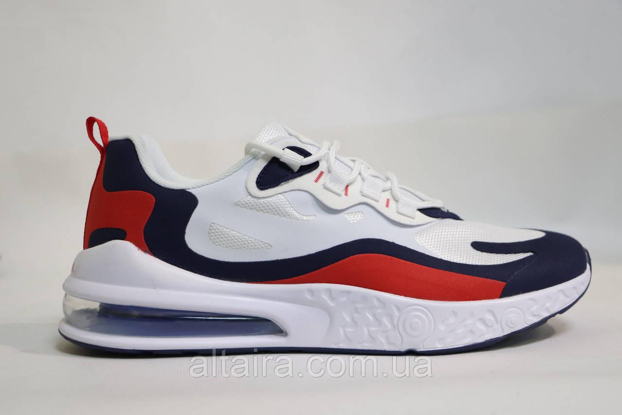 Стильні, мужкие, літні кросівки біло-синьо-червоні, сітка.Стильні, чоловічі білі-сині кросівки, сітка.