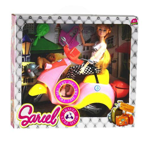 """Кукла на жёлтом мопеде """"Sariel"""" 5533"""
