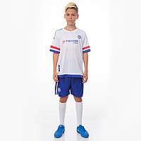 Форма футбольная детская Zelart CHELSEA гостевая 2016 Sport CO-3900-CH-3 (PL, р-р S-XL, рост 125-165см, белый-синий)