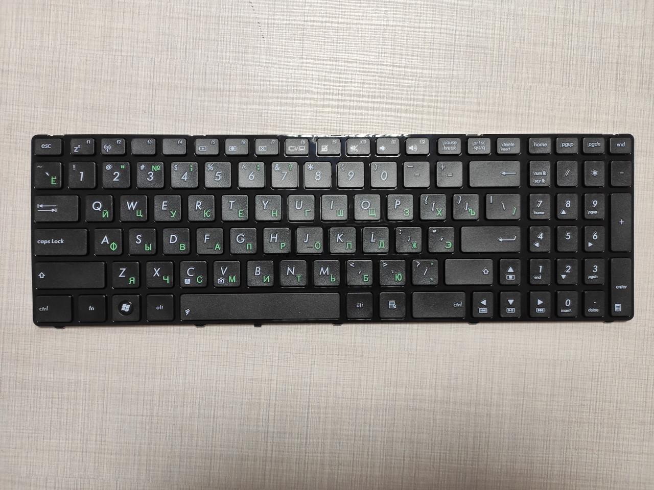 Клавиатура для ноутбука ASUS (K50, K51, K60, K61, K70, F52, P50, X5), rus, black