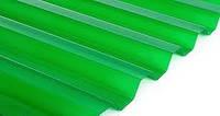 Прозрачный кровельный лист Salux, трапеция зеленый прозрачный 1800*900
