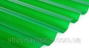 Прозрачный кровельный лист Salux, трапеция зеленый прозрачный 1800*900 - Стройнавигатор в Харькове