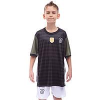 Форма футбольная детская Zelart GERMANY гостевая 2016 Sport CO-3900-GR-1 (PL, р-р S-XL, рост 125-165см, черный-белый)