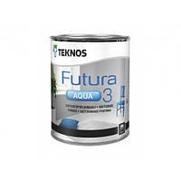 Водоразбавляемая матовая адгезионная грунтовка на алкидной основе Teknos Futura Aqua 3 белая
