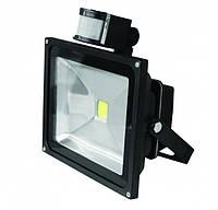 LED прожектор с датчиком Euroelectric 20W IP65 6500K