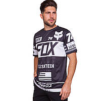 Футболка байкерская FOX MS-6822 (Coolmax, р-р L-2XL-46-52, черный-белый)
