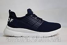 Стильные подростковые, мужские синие кроссовки, летние, сетка. Стильні подросткові сині кросівки, літні, сітка