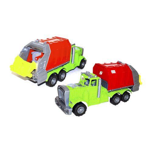 Машина пластиковая Мусоровоз зеленый. 523