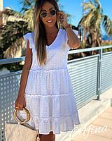 Платье легкое летнее темно-синее, белое 42-44,44-46,48-50,52-54 42-44, белый