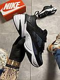 Женские кроссовки Nike M2K Tekno Essential, Женские Найк М2К Текно Черные Кожаные, фото 2