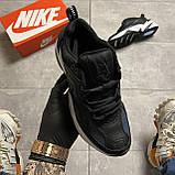 Женские кроссовки Nike M2K Tekno Essential, Женские Найк М2К Текно Черные Кожаные, фото 4