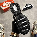Женские кроссовки Nike M2K Tekno Essential, Женские Найк М2К Текно Черные Кожаные, фото 6