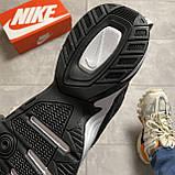 Женские кроссовки Nike M2K Tekno Essential, Женские Найк М2К Текно Черные Кожаные, фото 7