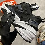 Женские кроссовки Nike M2K Tekno Essential, Женские Найк М2К Текно Черные Кожаные, фото 8