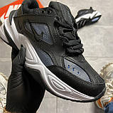 Женские кроссовки Nike M2K Tekno Essential, Женские Найк М2К Текно Черные Кожаные, фото 9