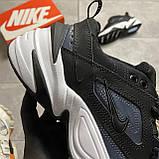Женские кроссовки Nike M2K Tekno Essential, Женские Найк М2К Текно Черные Кожаные, фото 10