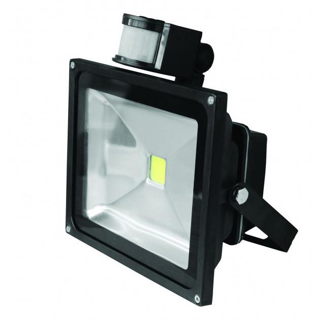 LED прожектор с датчиком Euroelectric 30W IP65 6500K