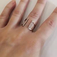 Кольцо из серебра и золота с циркониями Шейла, фото 1