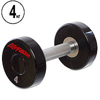 Гантель цілісна професійна Life Fitness (1шт) SC-80081-4 4кг (поліуретанове покриття, вага 4кг)